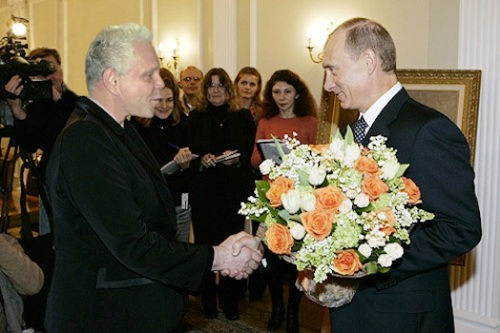 Президент России Владимир Путин Заслуженный Артист России Борис Моисеев